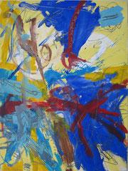 """""""O.T."""", 80 x 60 cm, Eitempera auf Papier, 1991"""