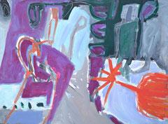 """Mexiko 3"", 50 x 70 cm, Acryl auf Papier, 1992"