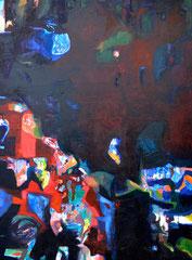 """""""Bei Nacht"""", ca 160 x 130 cm, Öl auf Wolle, ca 2002"""
