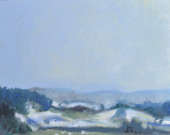 """""""Landschaft 1"""", 24 x 30 cm, Öl auf Leinen, 2007,"""