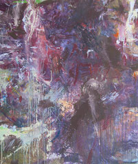 """Turmbild"", 180 x 150 cm, Acryl auf Leinen, 1999"