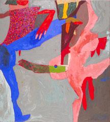 """""""Fickichicken"""", 165 x 145 cm, Öl auf Leinen, 1996"""