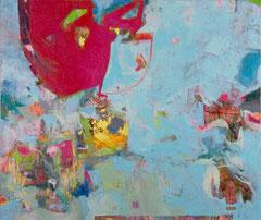"""""""Hellblau"""", Übermalung, 153 x 180 cm, Öl auf Leinen, 2006"""