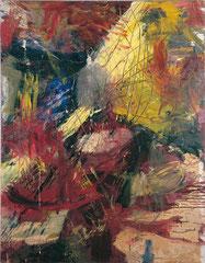 """Insektoid"", ca. 150 x 120 cm, Öl auf Leinwand, 1999"