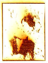 """""""Diva"""", Burned Graphik, Din A4, Laser auf Papier, 1997"""