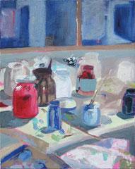 """""""Atelierstilleben 1"""", 50 x 40 cm, Öl auf Leinen, 2009"""