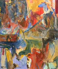 """""""Nase"""", 130 x 110 cm, Öl auf Leinen, 1996"""