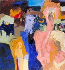 """""""Peyotl"""", 145 x 125 cm, Öl auf Leinen, 1996"""