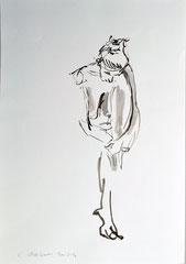 """""""Akt"""", DIN A3, Tusche auf Papier, 2016"""