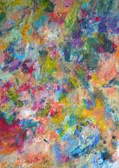 """""""Augenweide 3"""", DIN A4, Ölkreide auf Papier, 1997"""