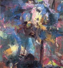 """Blue Forest"", 145 x 135 cm, Öl auf Leinwand, 1997"
