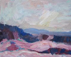 """""""Blick aus dem Atelier"""", 40 x 50 cm, Öl auf Leinen, 2009"""