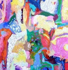 """""""Komposit"""", 80 x 80 cm, Öl auf Leinen, 2016"""