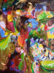 """""""Moorblumen 3"""", 80 x 60 cm, Öl auf Leinen, 2015"""