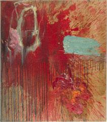 """""""Hirn"""", 80 x 70 cm, Öl auf Leinen, 1997"""