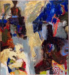 """""""Begegnung mit der dritten Art"""", 145 x 125 cm, Öl auf Leinen, 1995"""