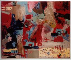 """""""Fegefeuer"""", 165 x 195 cm, Öl auf Leinen, 1995"""