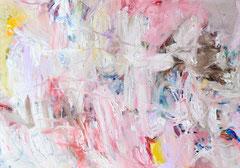 """""""Action Pink"""", 105 x 150 cm, Öl auf Nessel, 2015"""
