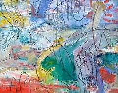 """Kratzbild"", 40 x 50 cm, Öl auf Leinen, 2015"