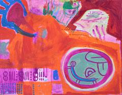 """Mexiko 1"", 50 x 64 cm, Acryl auf Papier, 1992"