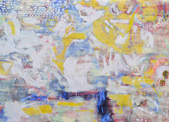 """Milkiway"", 220 x 280 cm, Öl auf Nessel, 2015"