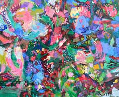 """""""Schwammerlsuche"""", 80 x 100 cm, Öl auf Leinen, 2015"""