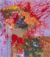 """""""Hirn raus"""", 80 x 70 cm, Öl auf Leinen, 1997"""