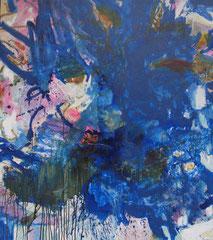 """""""Blue Splash"""", 135 x 116 cm, Öl auf Leinwand, 2008"""