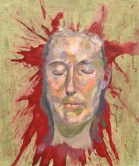 """""""Galina"""", 60 x 50 cm, Öl auf Jute 2019"""