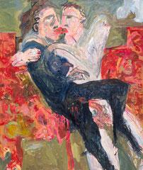 """""""HP und Swenja"""", 130 x 110 cm, Öl auf Leinen, 1996"""