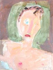 """""""Einaug"""", 40 x 30 cm, Eitempera auf Leinen, 1996"""