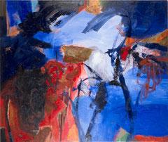 """Flughafenbild"", 195 x 230 cm, Öl auf Leinen, 1996"