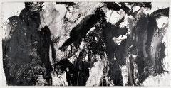 """O.T."", 159 x 300 cm, Acryl auf Packpapier, Salzburg 1993"