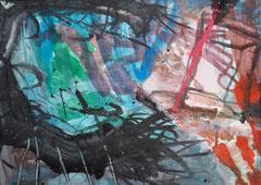 """Im Raum"", DIN A4, Acryl auf Papier, 1997"