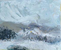 """""""Landschaft 6"""", 24 x 30 cm, Öl auf Leinen, 2009"""