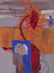 """""""O.T."""", 32 x 24 cm, Mischtechnik auf Papier, 1995"""