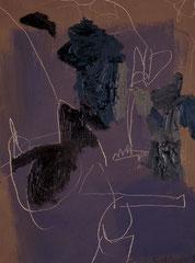 """""""Schwarz ohne Schwarz"""", 80 x 60 cm, Öl auf Leinen, 1995"""
