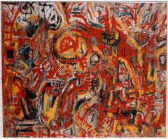 """""""O.T."""", 145 x 165 cm, Acryl auf Jute, 1989"""