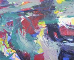 """""""Seiltänzer"""", 165 x 195 cm, Öl auf Leinen, 2013"""