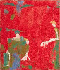 """""""Mann mit Koffer"""", 40 x 30 cm, Acryl auf Jute, 1994"""