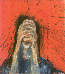 """""""Der Schrei"""", 80 x 70 cm, Öl auf Leinen, 1997"""