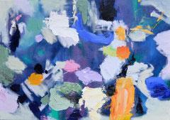 """""""Freiraum"""", 70 x 100 cm, Öl auf Leinen, 2018"""