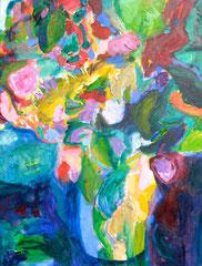 """""""Vase"""", 80 x 60 cm, Öl auf Leinen, 2015"""
