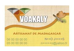 carte visite Voakaly