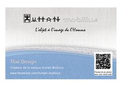 carte visite Tibé Design verso