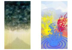 Illustration trombes de pluie & Sortir en Charente 2011