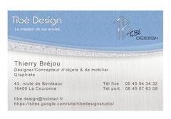 carte visite Tibé Design recto