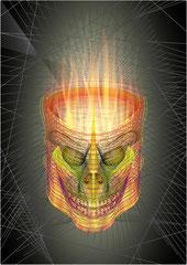 Illustration Crâne filaire