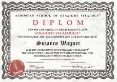 Diplom ESSV für Straight Vitalogisten, 16.12.2007