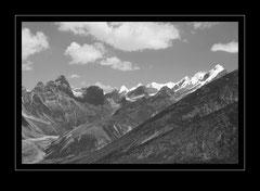 Blick in Richtung Changri La Pass